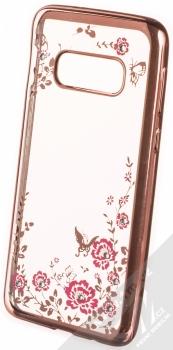 Forcell Diamond Flower TPU ochranný kryt pro Samsung Galaxy S10e růžově zlatá (rose gold)