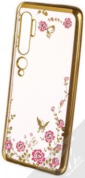 Forcell Diamond Flower TPU ochranný kryt pro Xiaomi Mi Note 10, Mi Note 10 Pro zlatá (gold)