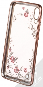 Forcell Diamond TPU ochranný kryt pro Samsung Galaxy M10 růžově zlatá (rose gold) zepředu