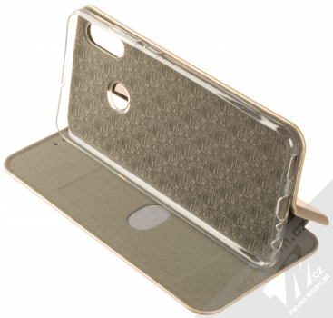 Forcell Elegance Book flipové pouzdro pro Huawei P Smart (2019) zlatá (gold) stojánek