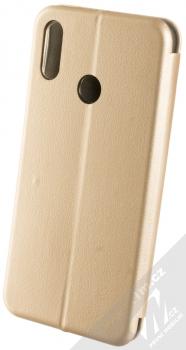 Forcell Elegance Book flipové pouzdro pro Huawei P Smart (2019) zlatá (gold) zezadu