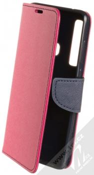 Forcell Fancy Book flipové pouzdro pro Samsung Galaxy A9 (2018) růžová modrá (pink blue)