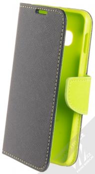 Forcell Fancy Book flipové pouzdro pro Samsung Galaxy S10e modrá limetkově zelená (blue lime)