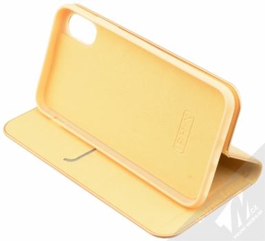 Forcell Luna flipové pouzdro pro Apple iPhone X zlatá (gold) stojánek
