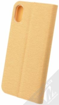 Forcell Luna flipové pouzdro pro Apple iPhone X zlatá (gold) zezadu