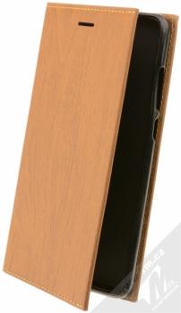Forcell Wood flipové pouzdro s motivem dřeva pro Xiaomi Redmi Note 4 (Global Version) hnědý dub (oak brown)