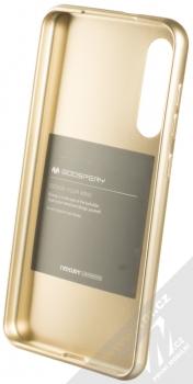 Goospery Jelly Case TPU ochranný silikonový kryt pro Xiaomi Mi 9 SE zlatá (gold) zepředu