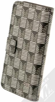Guess Jet Set Universal Booktype M univerzální flipové pouzdro pro mobilní telefon, mobil, smartphone 4 až 4,5 (GUBKMJSBKS) černá (black) zezadu
