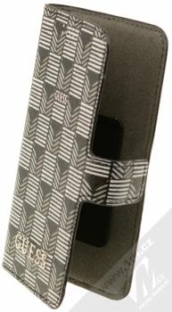 Guess Jet Set Universal Booktype M univerzální flipové pouzdro pro mobilní telefon, mobil, smartphone 4 až 4,5 (GUBKMJSBKS) černá (black)