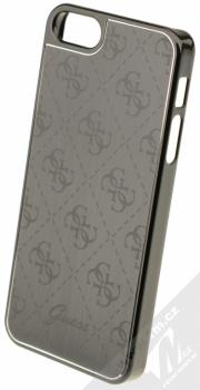 Guess Metallic Hard Case ochranný kryt pro Apple iPhone 5, iPhone 5S, iPhone SE (GUHCPSEMEBK) černá (black)