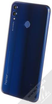 Honor 8X 4GB/128GB modrá (blue) šikmo zezadu