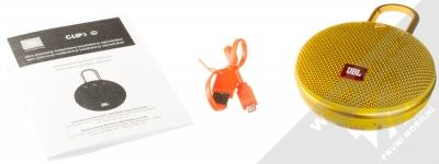 JBL CLIP 3 voděodolný Bluetooth reproduktor žlutá (yellow) balení