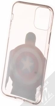 Marvel Kapitán Amerika 002 TPU ochranný kryt pro Apple iPhone 11 Pro průhledná (transparent) zepředu