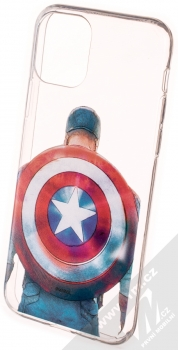 Marvel Kapitán Amerika 002 TPU ochranný kryt pro Apple iPhone 11 Pro průhledná (transparent)