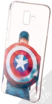 Marvel Kapitán Amerika 002 TPU ochranný silikonový kryt s motivem pro Samsung Galaxy J6 Plus (2018) průhledná (transparent)