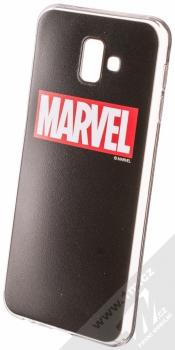 Marvel Logo 002 TPU ochranný silikonový kryt s motivem pro Samsung Galaxy J6 Plus (2018) černá (black)