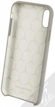 Mercedes Silicone ochranný kryt pro Apple iPhone XR (MEHCI61SILGR) šedá (grey) zepředu