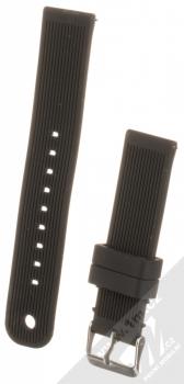 MiJobs Vertical Lines Silicone Wrist Strap silikonový pásek na zápěstí pro Xiaomi Amazfit Bip černá (black)