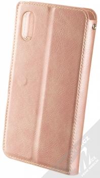 Molan Cano Issue Diary flipové pouzdro pro Apple iPhone XR růžově zlatá (rose gold) zezadu