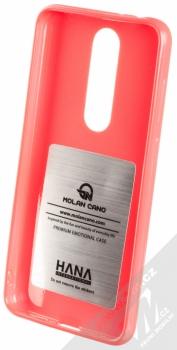 Molan Cano Jelly Case TPU ochranný kryt pro Nokia 5.1 Plus sytě růžová (hot pink) zepředu