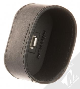 Nillkin Airpods Mate Wireless Charging Case kožené pouzdro s podporou bezdrátového nabíjení pro sluchátka Apple AirPods černá (black) seshora