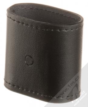 Nillkin Airpods Mate Wireless Charging Case kožené pouzdro s podporou bezdrátového nabíjení pro sluchátka Apple AirPods černá (black) zezadu