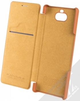 Nillkin Qin flipové pouzdro pro Sony Xperia 10 hnědá (brown) otevřené