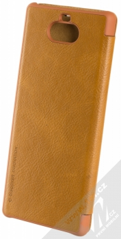 Nillkin Qin flipové pouzdro pro Sony Xperia 10 hnědá (brown) zezadu