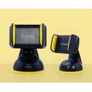 Remax RM-C06 držák do auta s přísavkou pro mobilní telefon, mobil, smartphone černo žlutá (black yellow) - detail