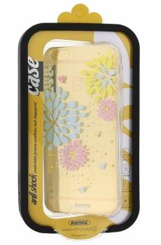 Remax TPU Sunflower květinový ochranný kryt pro Apple iPhone 6, iPhone 6S čirá (clear)