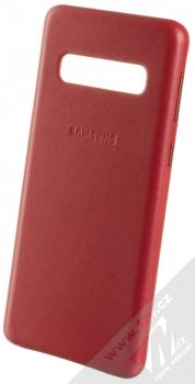 Samsung EF-VG973LR Leather Cover kožený originální ochranný kryt pro Samsung Galaxy S10 červená (red)