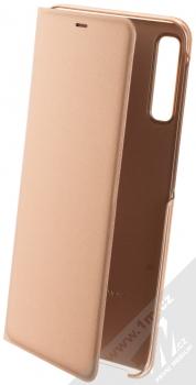 Samsung EF-WA750PF Wallet Cover originální flipové pouzdro pro Samsung Galaxy A7 (2018) zlatá (gold)