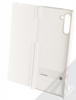 Samsung EF-ZN970CW Clear View Cover originální flipové pouzdro pro Samsung Galaxy Note 10 bílá (white) otevřené
