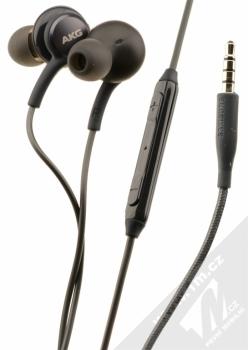 Samsung EO-IG955BS originální stereo headset AKG s tlačítkem a konektorem Jack 3,5mm černá (titanium gray)