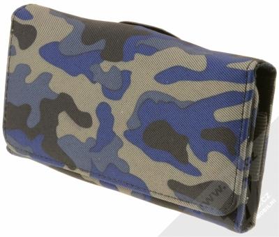 Sligo Leather Belt Army horizontální pouzdro na opasek pro mobilní telefon, mobil, smartphone do 5,1 modrá černá šedá (blue black grey)