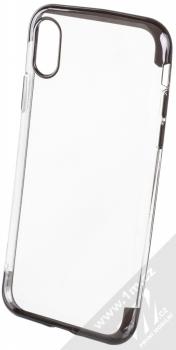 Sligo Plating Soft TPU pokovený ochranný kryt pro Apple iPhone X, iPhone XS černá (black)
