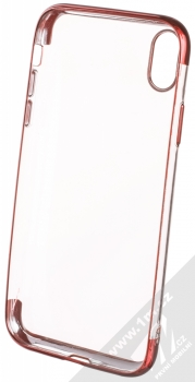 Sligo Plating Soft TPU pokovený ochranný kryt pro Apple iPhone XR červená (red) zepředu
