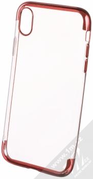 Sligo Plating Soft TPU pokovený ochranný kryt pro Apple iPhone XR červená (red)