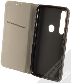 Sligo Smart Magnet flipové pouzdro pro Moto G8 Plus černá (black) otevřené