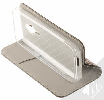 Sligo Smart Magnet flipové pouzdro pro Nokia 230, 230 Dual Sim černá (black) stojánek
