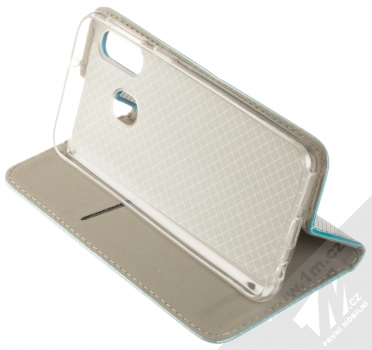 Sligo Smart Magnet flipové pouzdro pro Samsung Galaxy A40 tyrkysová (turquoise) stojánek
