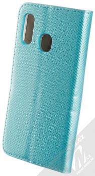 Sligo Smart Magnet flipové pouzdro pro Samsung Galaxy A40 tyrkysová (turquoise) zezadu