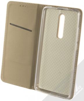 Sligo Smart Magnet flipové pouzdro pro Xiaomi Mi 9T zlatá (gold) otevřené