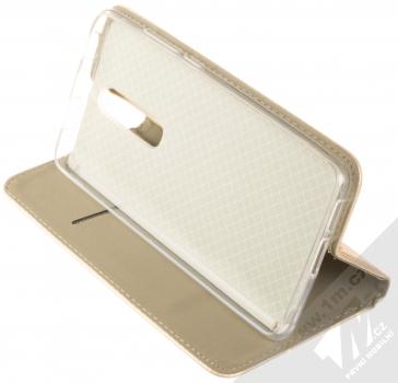 Sligo Smart Magnet flipové pouzdro pro Xiaomi Mi 9T zlatá (gold) stojánek