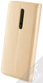 Sligo Smart Magnet flipové pouzdro pro Xiaomi Mi 9T zlatá (gold) zezadu