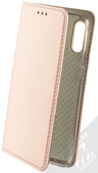 Sligo Smart Magnetic flipové pouzdro pro Samsung Galaxy A40 růžově zlatá (rose gold)