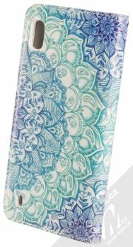 Sligo Smart Trendy Ledové květy 1 flipové pouzdro pro Samsung Galaxy A10 modrá bílá (blue white) zezadu