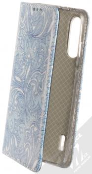 Sligo Smart Trendy Ledové květy 2 flipové pouzdro pro Xiaomi Mi A3 modrá bílá (blue white)