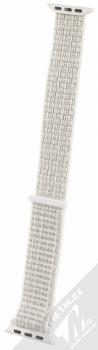 Tactical Nylon Strap textilní pásek na zápěstí pro Apple Watch 38mm, Watch 40mm bílá (white)