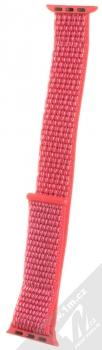 Tactical Nylon Strap textilní pásek na zápěstí pro Apple Watch 38mm, Watch 40mm růžová (pink)